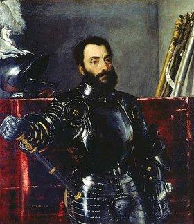 Tizian (Tiziano Vecellio): Bildnis des Francesco Maria della Rovere in Rüstung