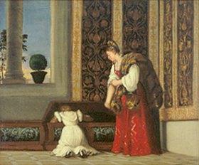 Tizian (Tiziano Vecellio): Detail aus dem Gemälde Die Venus von Urbino