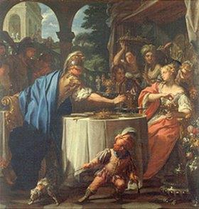 Francesco Trevisani: Das Festmahl von Antonius und Kleopatra. Vor