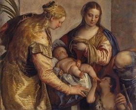 Paolo (Paolo Caliari) Veronese: Die Hl. Familie mit der Hl. Barbara und dem Johannesknaben
