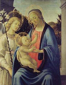 Sandro Botticelli: Madonna mit Kind und einem Engel