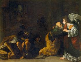 Umkreis Caravaggio: Die Befreiung des Hl. Petrus