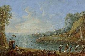 Römisch: Ideale Landschaft mit Fischern. (1. Hälfte 18. Jahrhundert)