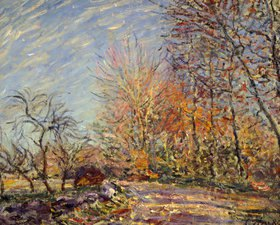 Alfred Sisley: Am Waldrand bei Fontainebleau