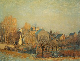 Alfred Sisley: Frostige Landschaft in Louveciennes