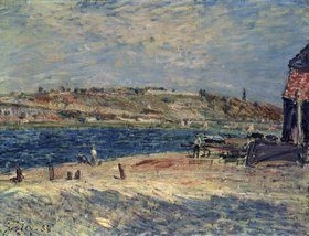 Alfred Sisley: Flussufer in Saint-Mammes