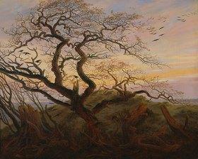Caspar David Friedrich: Rabenbaum (Kahler Baum an der Küste Rügens, oder: Krähenhorst auf Rügen)