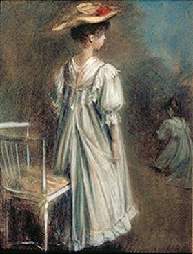 Jacques-Emile Blanche: Junges Mädchen in weißem Kleid