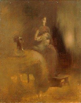 Eugène Carrière: Mutter mit Kind an der Brust