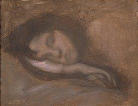 Eugène Carrière: Gesicht einer schlafenden Frau