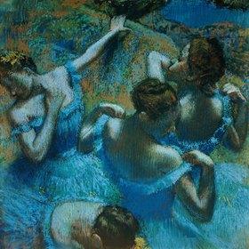 Edgar Degas: Tänzerinnen in blauen Kostümen