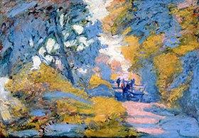 Jules-Léon Flandrin: Straße in hellem Sonnenlicht