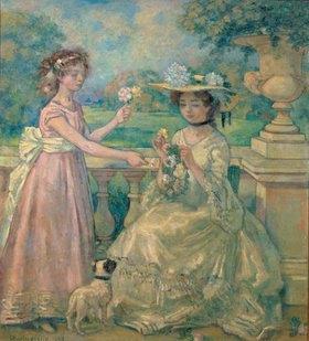 Charles Guérin: Zwei junge Frauen auf der Terrasse