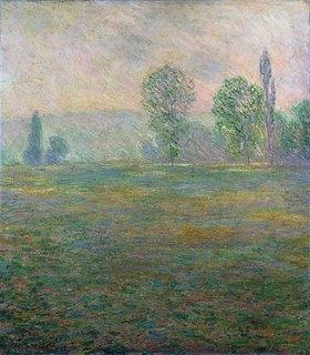 Claude Monet: Wiesenlandschaft im Frühdunst bei Giverny