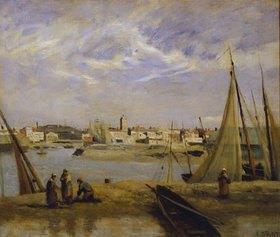 Jean-Baptiste Camille Corot: Blick über ein Hafenbecken von Dünkirchen