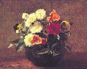Henri de Fantin-Latour: Blumenstrauß in Steingutkrug