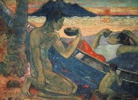 Paul Gauguin: Das Kanu; Familie auf Tahiti