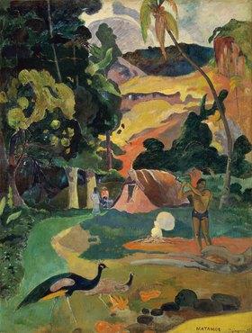 Paul Gauguin: MATAMOE (Tod). Landschaft mit Pfauen