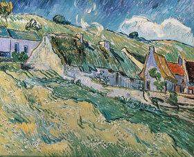 Vincent van Gogh: Strohdach-Häuser