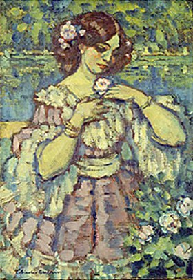 Charles Guérin: Junge Frau mit Rose