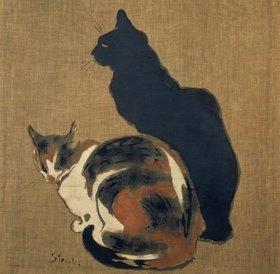 Théophile-Alexander Steinlen: Zwei Katzen