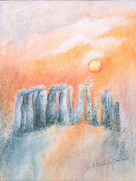 Annette Bartusch-Goger: Stonehenge (England) im Abendlicht