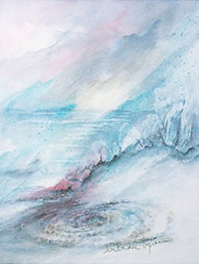 Annette Bartusch-Goger: Labyrith am Strand von St. Agnes auf der Isle of Scilly (England)