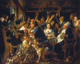 Jacob Jordaens: Das Fest des Bohnenkönigs