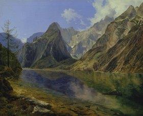 Adalbert Stifter: Der Königssee mit dem Watzmann