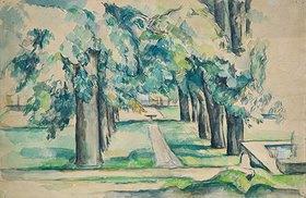 Paul Cézanne: Kastanienallee im Jas de Bouffan. 1880er Jahre