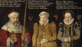 Deutsch: Kurfürst Ludwig III. mit Gemahlinnen Blanka und Mechthild