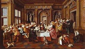 Dirck Hals: Elegante Gesellschaft. 1628. Die Architektur von Dirck van Delen
