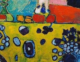Alexej von Jawlensky: Stillleben mit bunter Tischdecke