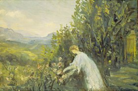 Laprade Pierre: Frau im Garten
