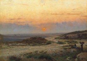Carl Emil Lund: Sonnenuntergang
