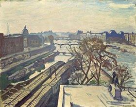 Albert Marquet: Blick auf die Seine in Paris mit Denkmal Henri IV