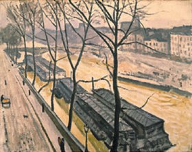 Albert Marquet: Quai Bourbon in Paris im Winter