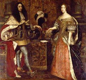 Sebastiano Bombelli: Kurfürst Ferdinand Maria und seine Gemahlin Henriette Adelaide. Mitte 17. Jh