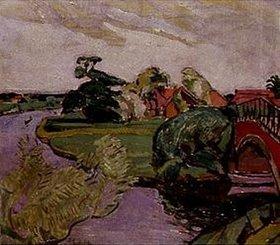 Oskar Moll: Landschaft mit Fluß