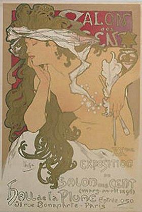 Alfons Mucha: Plakat für die Ausstellung im Salon des Cent