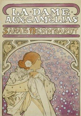 "Alfons Mucha: Plakat für Alexandre Dumas ""Die Kameliendame"" (oberer Teil)"