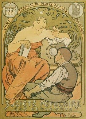 """Alfons Mucha: Werbeplakat für die """"Société Populaire des Beaux-Art"""""""