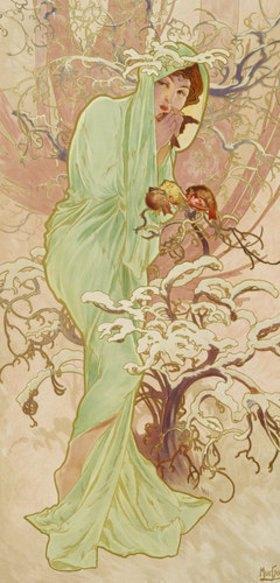 """Alfons Mucha: Winter (aus der Serie """"Jahreszeiten"""")"""