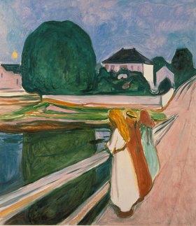 Edvard Munch: Weisse Nacht (Asgaardstrand)