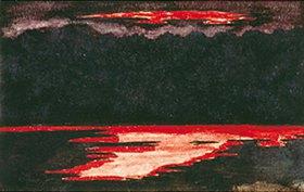 Max Beckmann: Sonnenuntergang. Um 1896. (Mit Bezeichnung: Selbst entworfen)