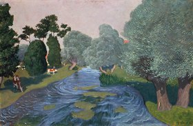 Felix Vallotton: Landschaft mit Fluss in der Normandie