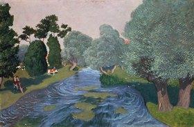 Felix Vallotton: Landschaft mit Fluss in der Normandie