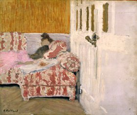 Edouard Vuillard: Auf der Couch (weisses Interieur)
