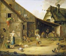 Johann Ludwig Morgenstern: Ein Bauernhof
