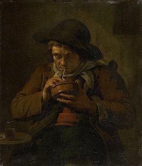 Jan Ekels d.J.: Ein Bauer zündet seine Tabakspfeife an